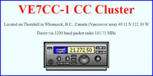 Dx Cluster VE7CC-1